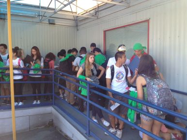 the group in line