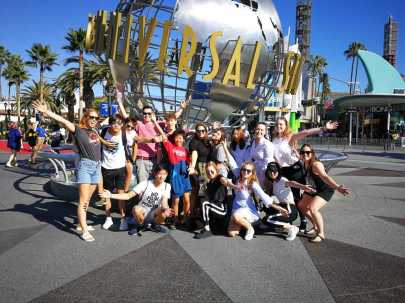 Group in Universal Studios